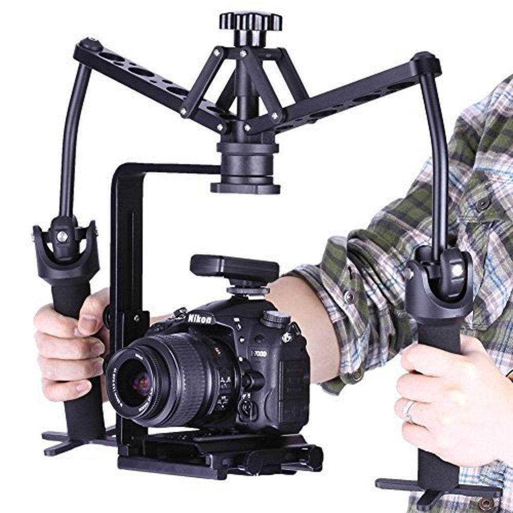 ceari Viltrox wd-z twin-style Mechanicalビデオハンドヘルドスタビライザージンバルリグfor HDSLRカメラ、Mサイズ、ビデオカメラ、dvビデオカメラ   B01G838JAA