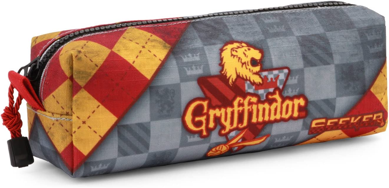 Rouge Karactermania Harry Potter Quidditch Gryffindor-Square Pencil Case Trousses Red 22 cm