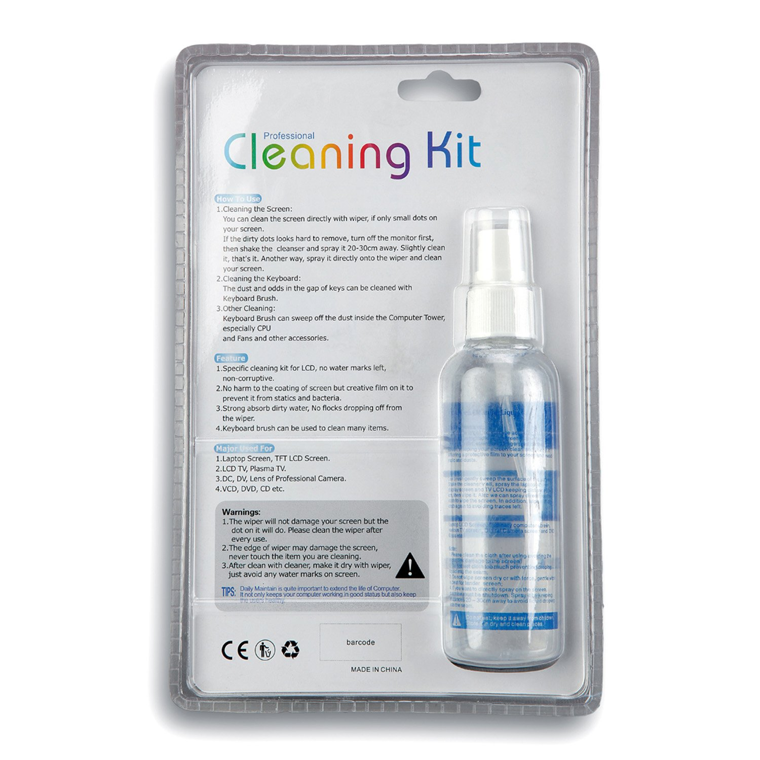 Amazon.com: AmScope CK-I 3 in 1 LCD Professional Cleaning Kit for ...