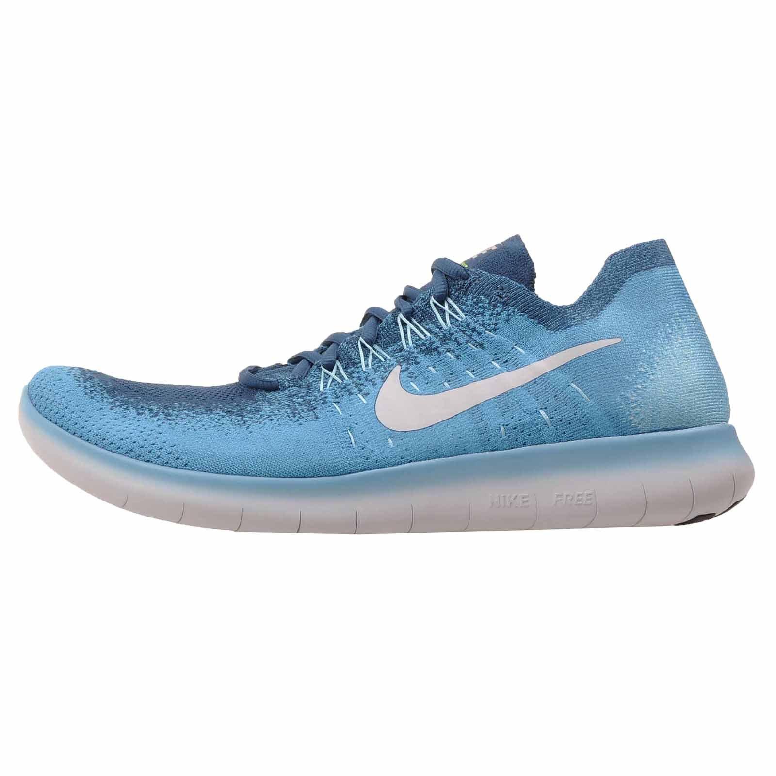 Nike Free Rn Flyknit 2017 Sz 11 Mens Running Blue Lagoon/Pure Platinum-Legend Blue Shoes