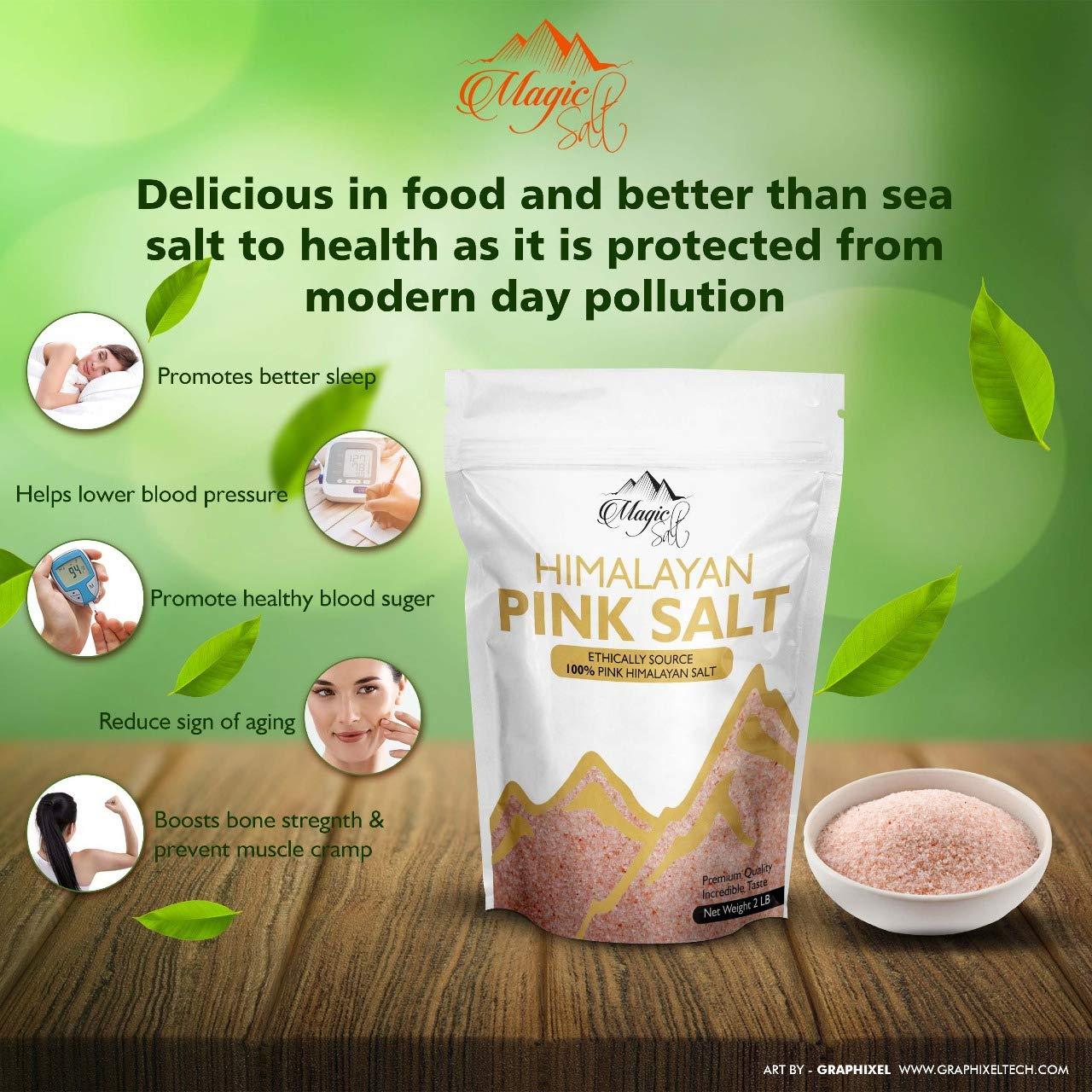 Magic Salt ® Himalayan Fine Pink Salt Pure and Naturally Organic Food Grade Fine Salt