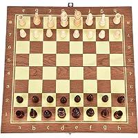 Juego de ajedrez en Tablero de ajedrez de Madera 3 en 1 Juego de Combinación de ajedrez y Checker / Backgammon en Tablero Plegable para Principiantes Fiesta para Niños Actividades Familiares