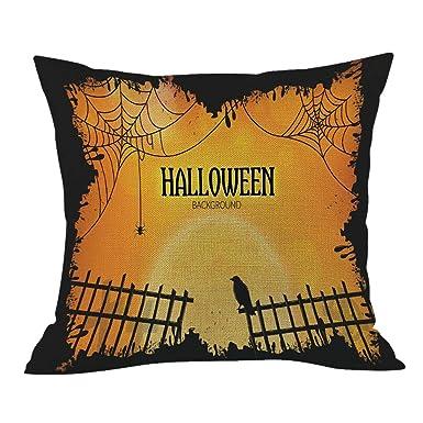 HEVÜY - Funda de cojín con diseño de calabaza para Halloween ...