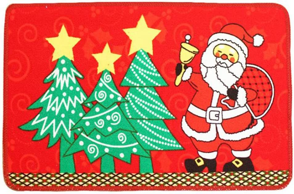 LAAT Navidad Claus Alfombra Puerta Antideslizante Alfombra de ...
