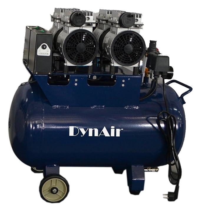 Compresor de aire silencioso, 1100 W, sin aceite, 50 l, 230 ...