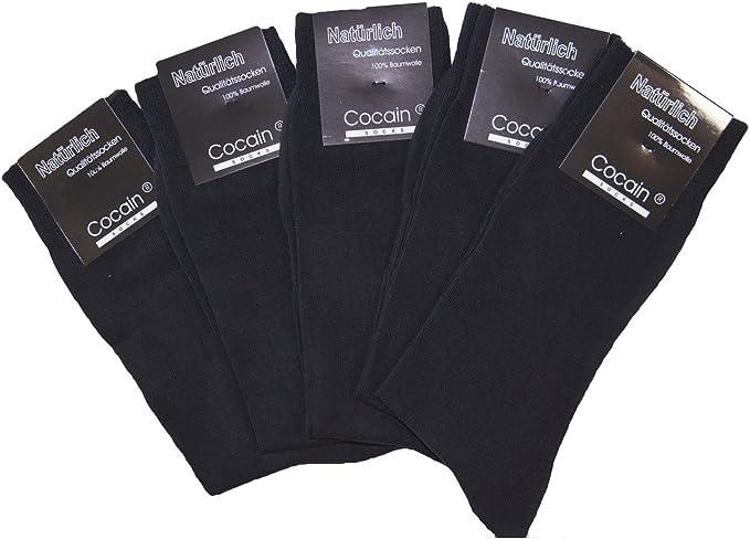 cocain 100 pares de calcetines negros para hombre y mujer, de algodón, calcetines de negocios, remallados a mano, artículo de marca, talla De 35 a 50.: Amazon.es: Ropa y accesorios