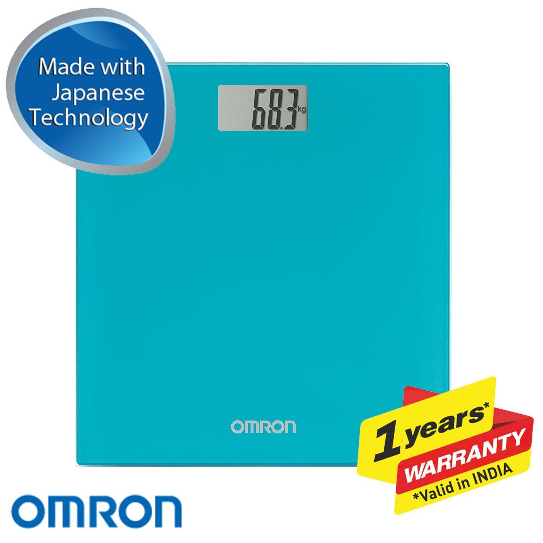 OMRON HN289 - Báscula de baño digital, 5 Kg a 150 Kg, pilas incluidas, color turquesa: Amazon.es: Salud y cuidado personal