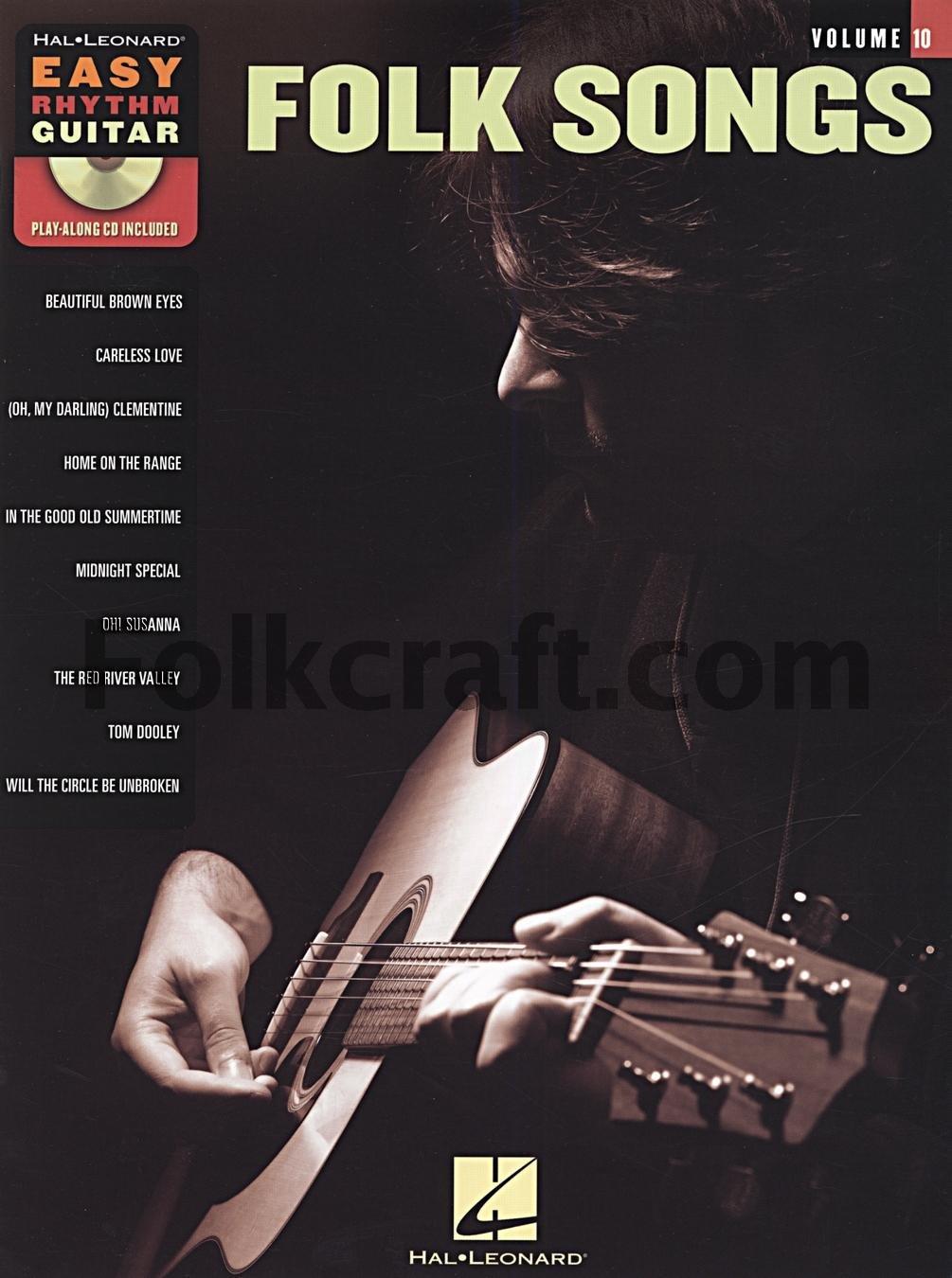 Easy Rhythm Guitar Volume 10: Folk Songs. Partituras, CD para ...