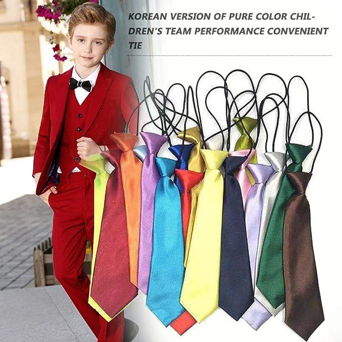 Compra Yogasada Niños Niños Bebé Boda Color sólido Corbata ...