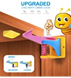 Child Safety Cabinet Locks,baby proofing cabinets locks drawer locks child safety easy to install no drill or tools(10 packs)