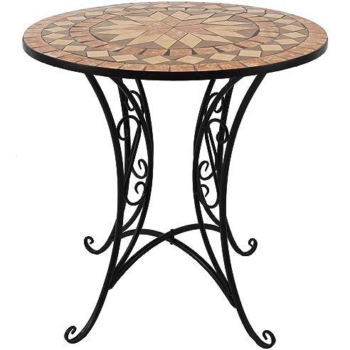Gartentisch rund mosaik  Amazon.de: Mosaik Gartentisch rund Ø70cm Mosaiktisch Beistelltisch ...