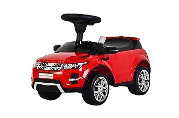 liscensed landrange rover push ride on car for kids baby racer red