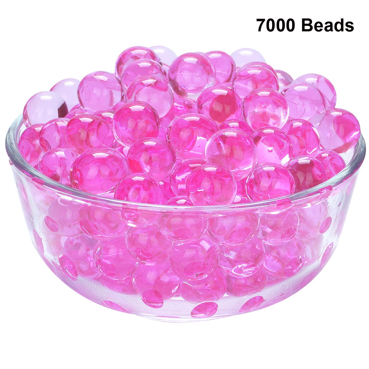 LOVOUS 7000 Pcs Water Beads, Crystal Soil Water Bead Gel, Wedding Decoration Vase Filler - Furniture Decorative Vase Filler, All Occasion Table Scatters Centerpiece Decorations(Rose)