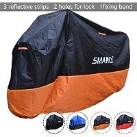 SMARCY® Housse de Protection pour Moto XXXL Noir et Orange