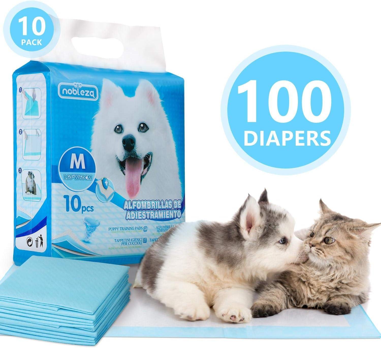 Nobleza - 100 x Empapadores Perros Alfombrilla higiénica de Entrenamiento para Perros. Ultraabsorbente 60cm*60cm.