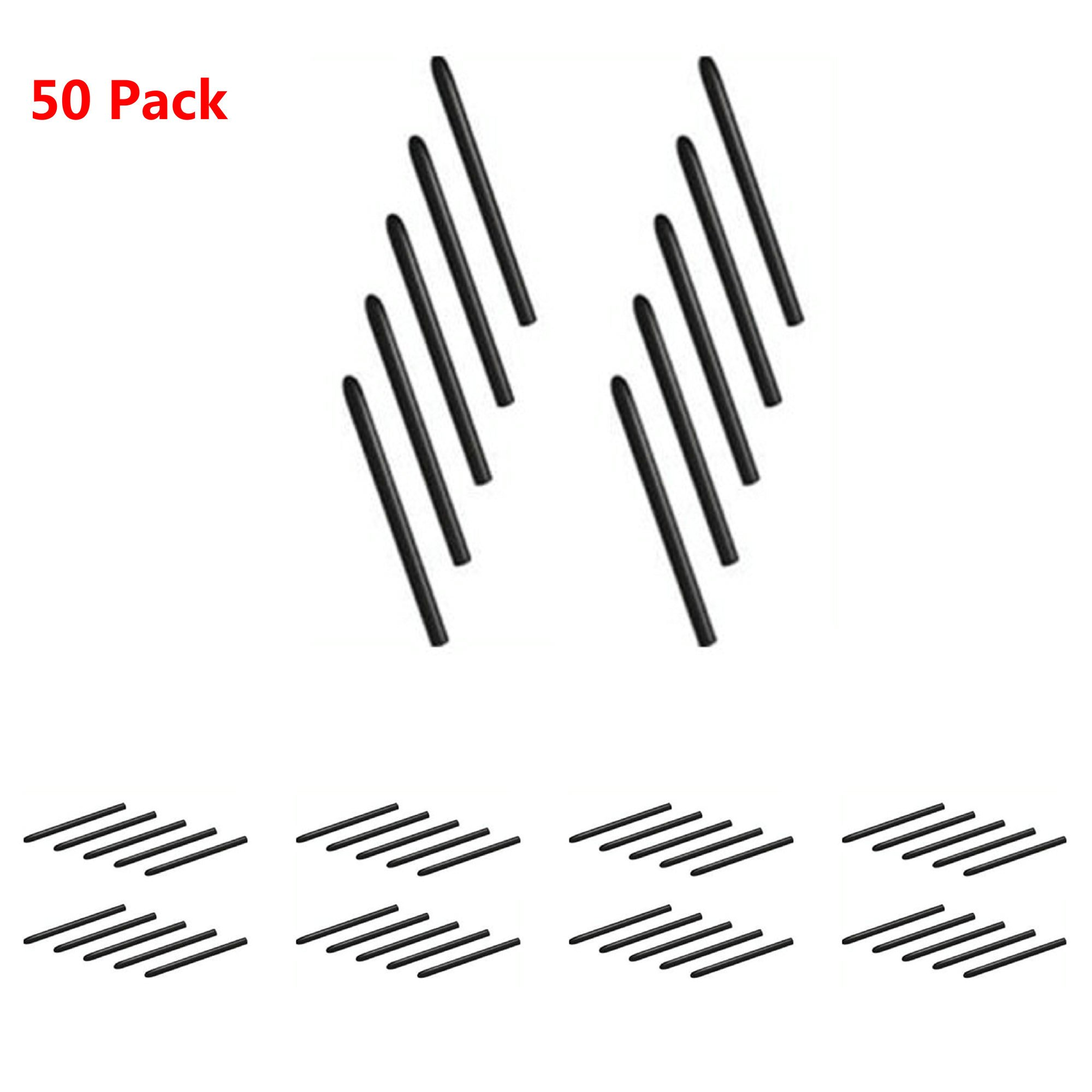 New Standard Replacement Nibs for Wacom Bamboo & Intuos Pens 50 Pack Black