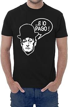 Fermento Italia T-shirt uomo divertente .E IO PAGO! - maglietta umoristica 100% cotone JHK