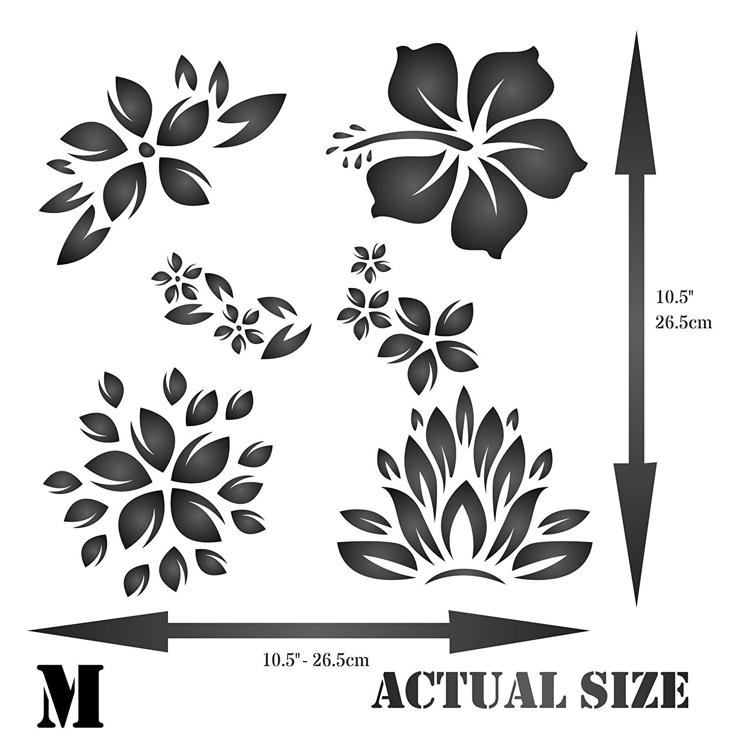Amazon tropical flowers stencil size 105w x 105h amazon tropical flowers stencil size 105w x 105h reusable wall stencils for painting best quality template allover wallpaper ideas use on izmirmasajfo