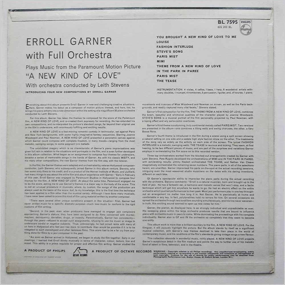 Erroll Garner With Full Orchestra Conducted By Leith Stevens