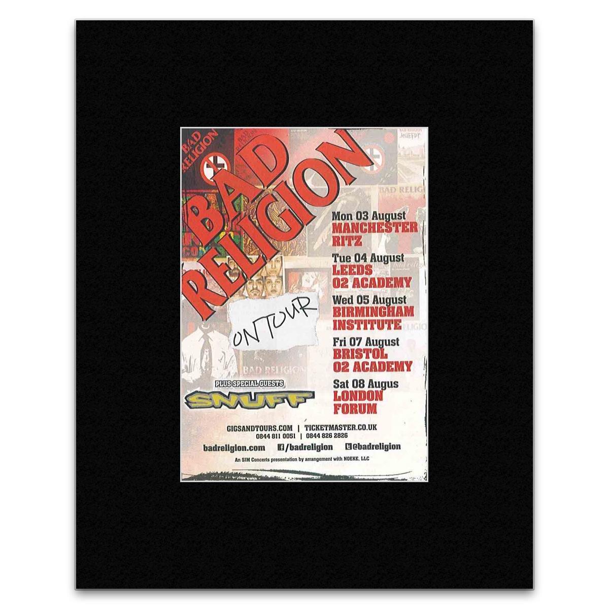 Amazon.de: BAD RELIGION 2015 On Tour-Poster, Miniposter, matt, 13, 5 ...