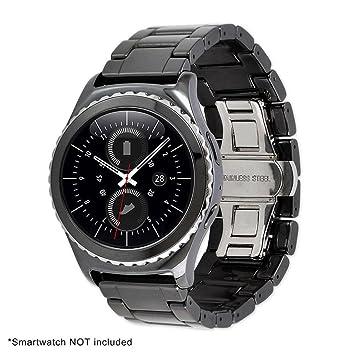 wawer Business Lujo cerámica reloj de pulsera pulsera para Samsung Gear S2 Classic, color negro: Amazon.es: Deportes y aire libre