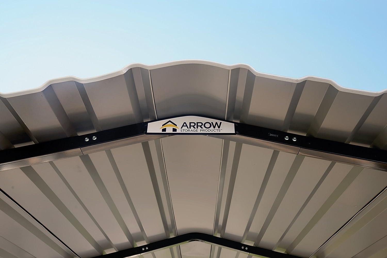 ARROW cph102407 CarPort Soporte de Acero, galvanizado, 25, 4 x 61 x 17, 8 cm, Color Negro/Eggshell - : Amazon.es: Jardín