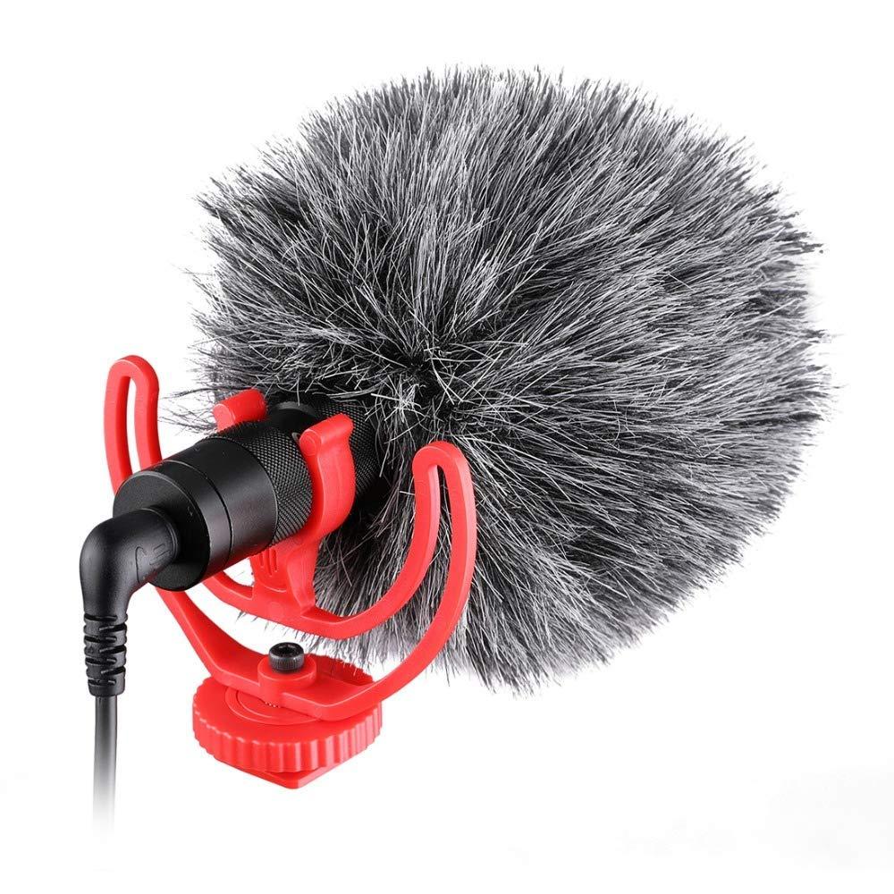 Lavalier Microphone,Inseesi IN15 Audio Video Phone Microphone Condenser Microphone Recorder for Canon Nikon DSLR Zoom Camcorder Phone