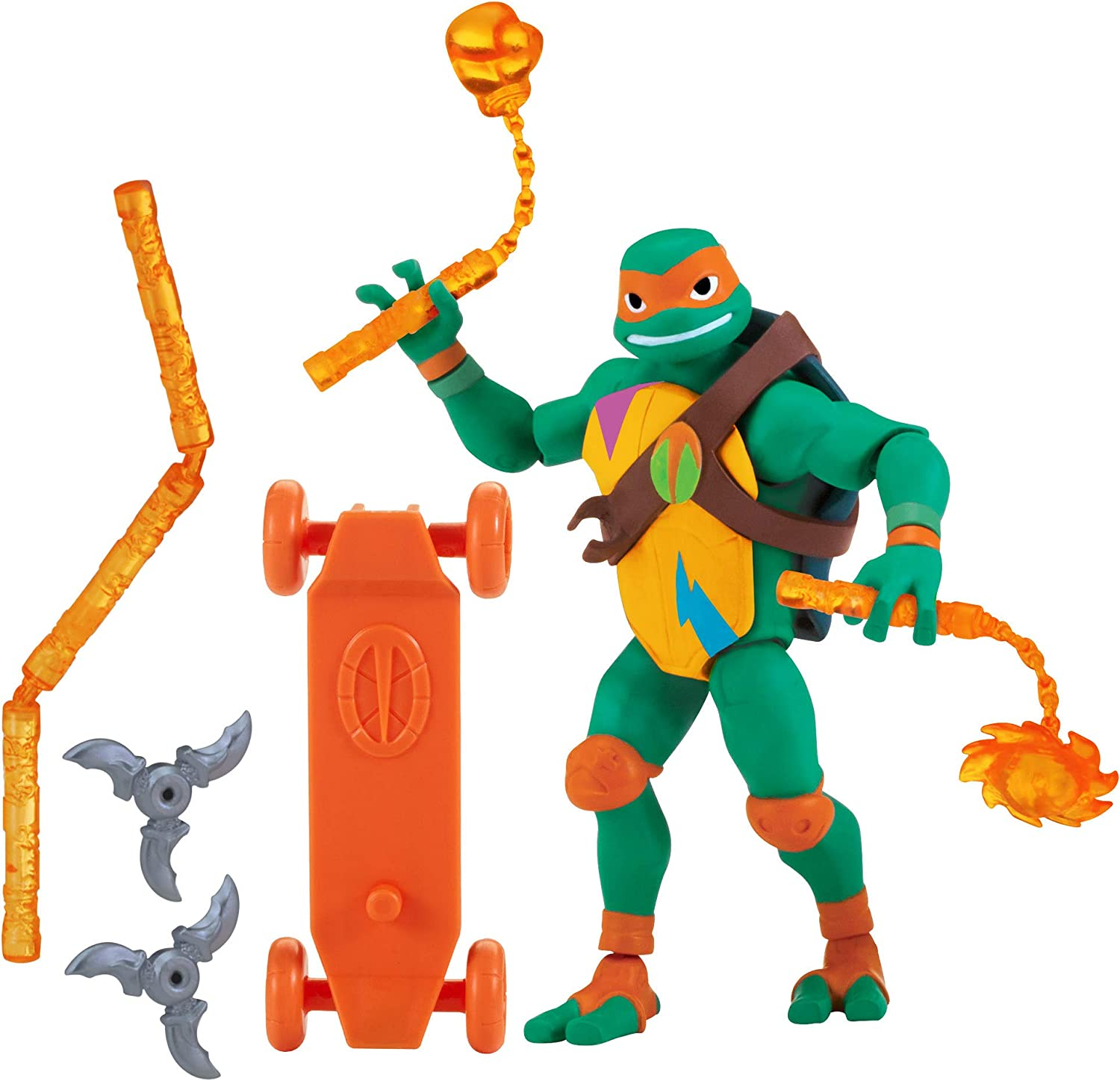 Rise of the Teenage Mutant Ninja Turtles Michelangelo Basic Figure