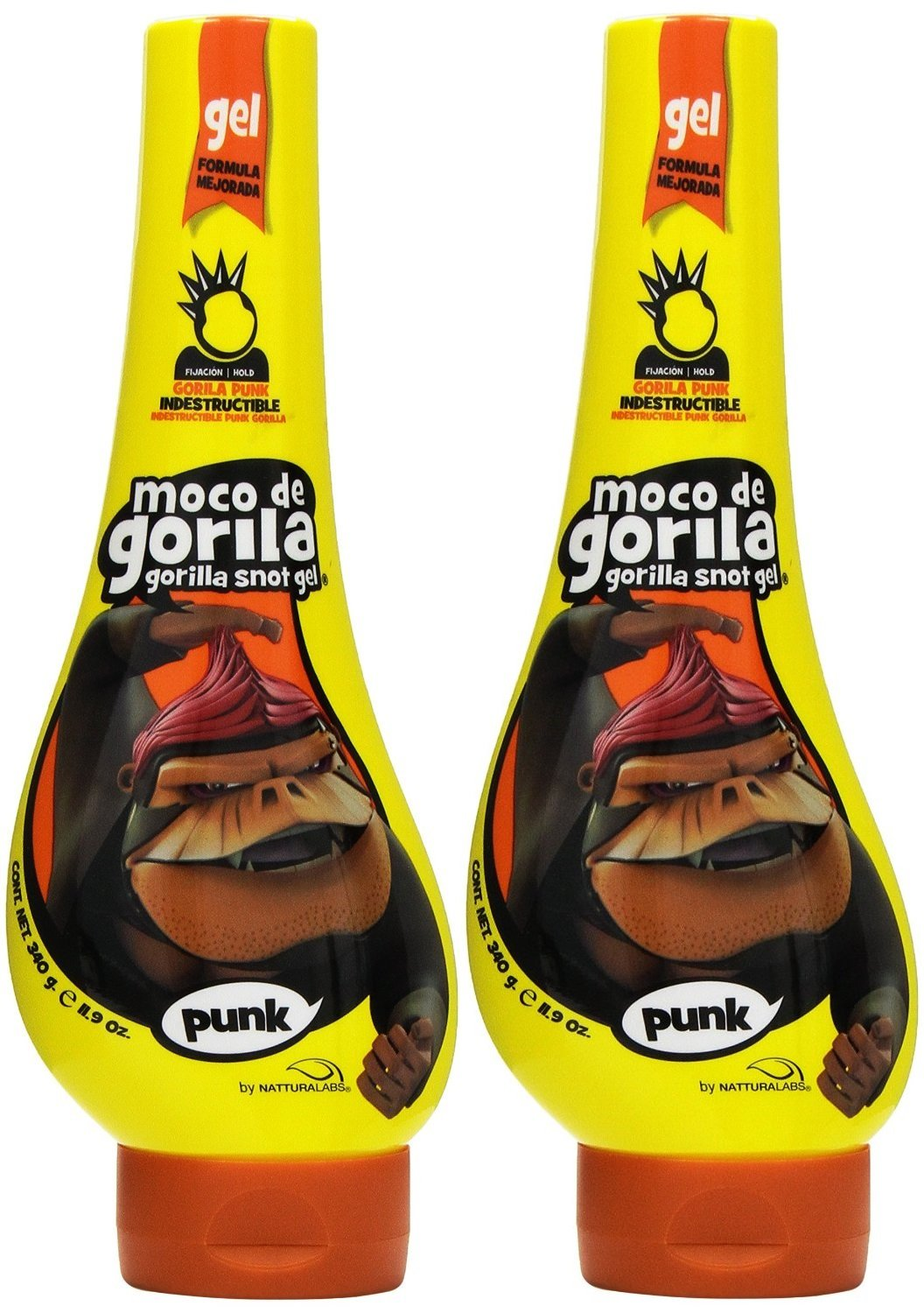 Moco de Gorila Estilo Punk Extreme Hold Gel, 11.9 Ounce (Pack of 2)