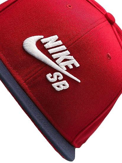 Amazon.com  Nike Mens SB Icon Pro Snapback Hat Black White  Sports    Outdoors 337e9914e77