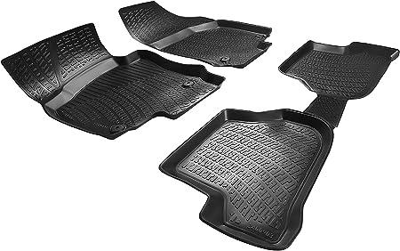 Elmasline Design 3d Gummimatten Set Für Vw Golf 6 Baujahr 2008 2014 Extra Hoher 5cm Rand Auto
