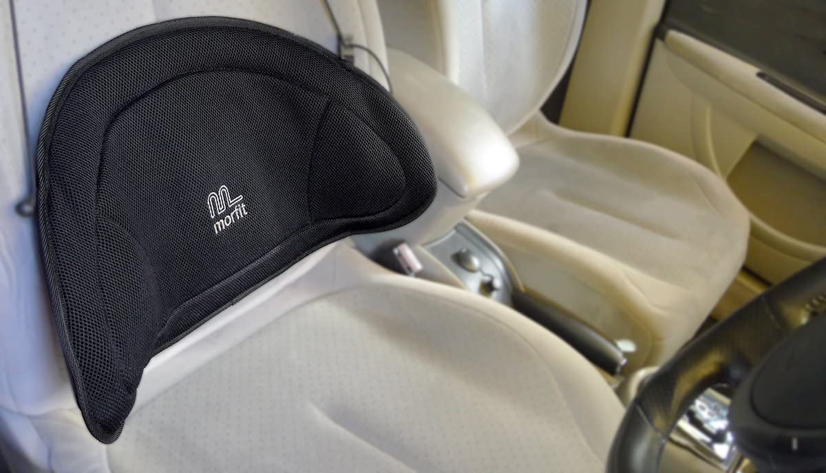 Morfit Back Support for Car Seats A Portable Lumbar Support for Cars and Other Vehicle Seats Osteopath-Designed and Approved to Eliminate Back Pain When Driving