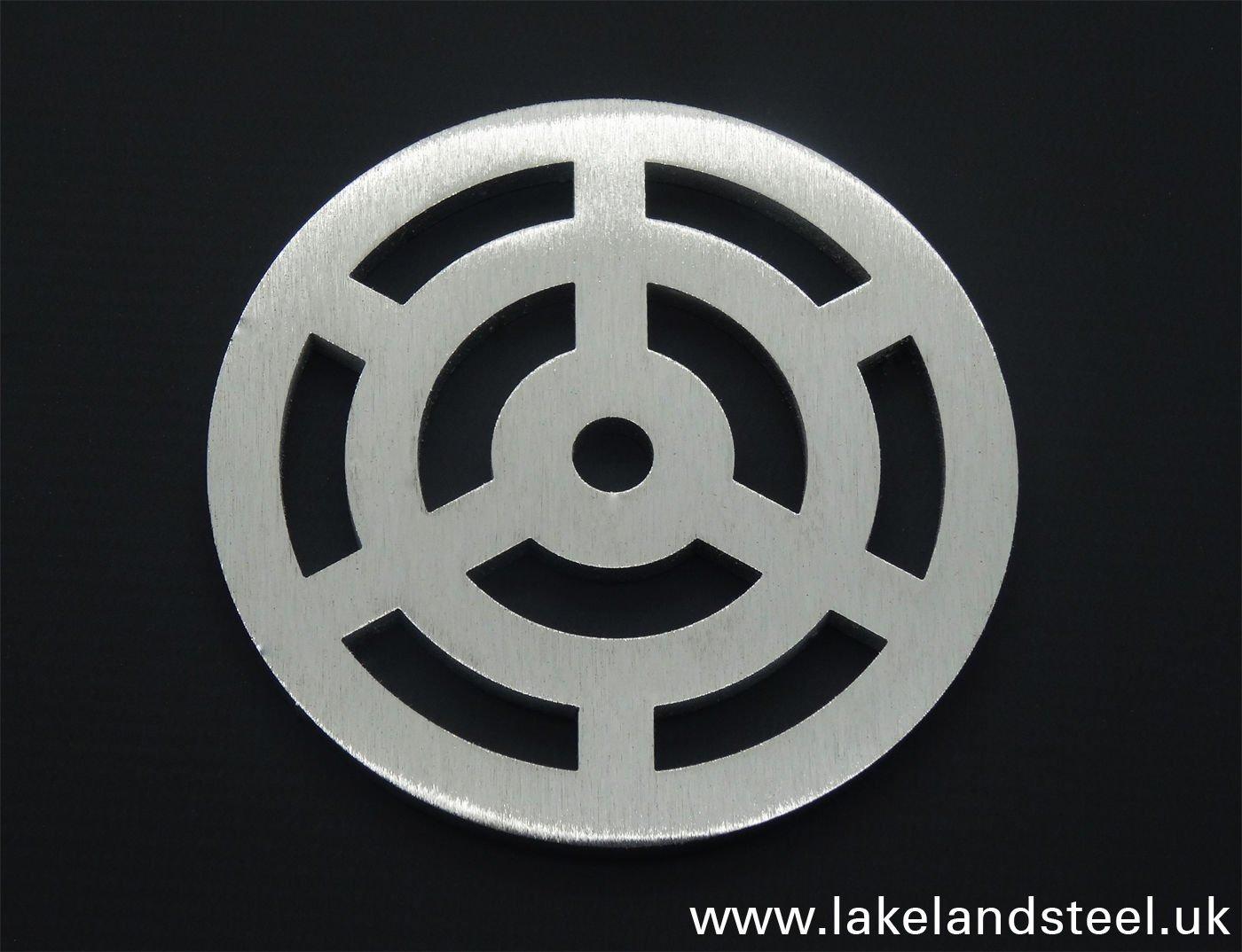 Reiben wie Gusseisen 110/mm rund Edelstahl massiv Metall Stahl Gully Gitter Heavy Duty Ablauf st/ärker