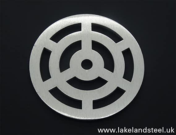 12,7/cm Zoll rund Edelstahl massiv Metall Stahl Gully Gitter Heavy Duty Ablauf Reiben wie Gusseisen st/ärker