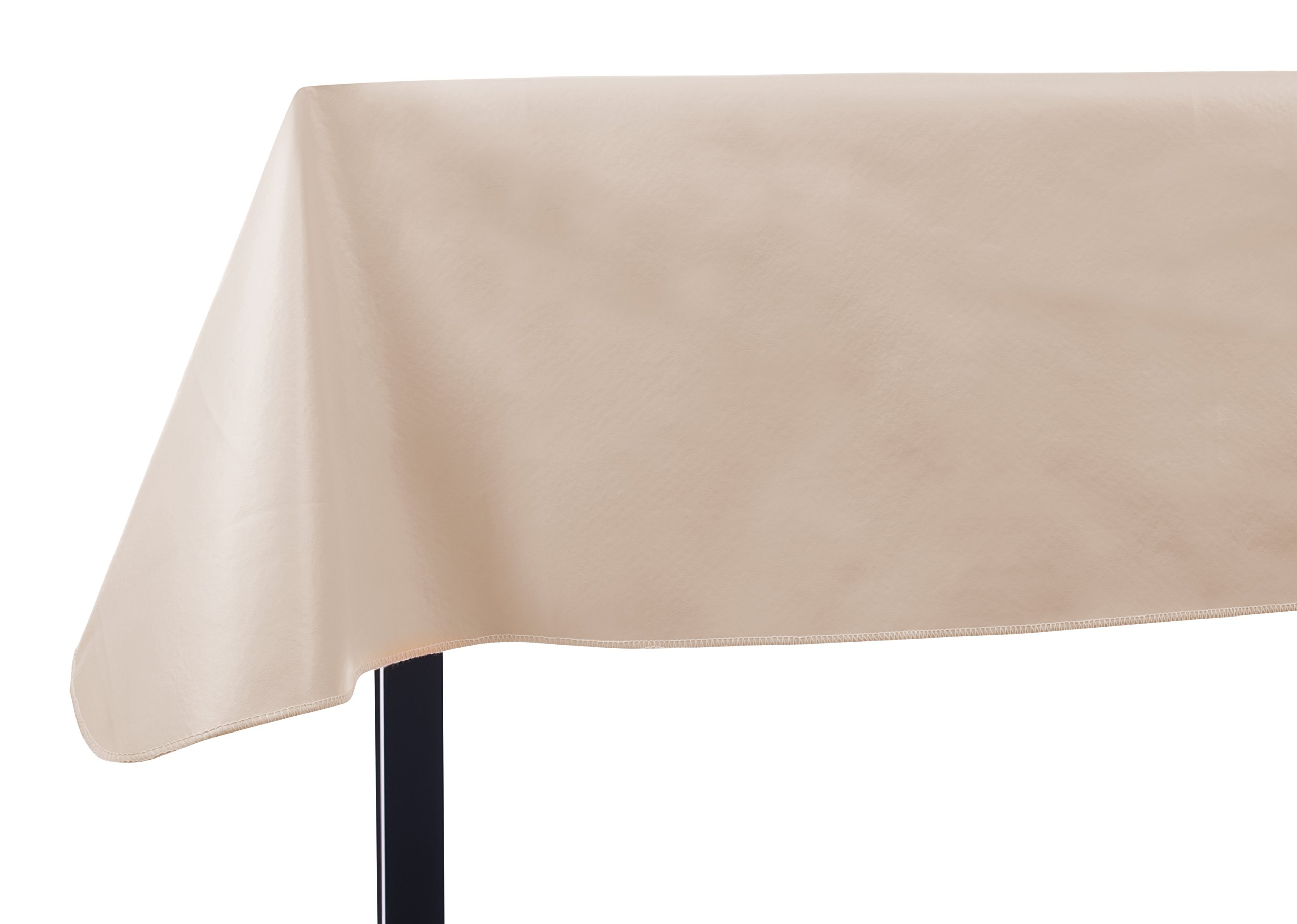 Yourtablecloth Heavy Duty Vinyl Rectangle or Square Tablecloth – 6 Gauge Heavy Duty Tablecloth – Flannel Backed – Wipeable Tablecloth with Vivid Colors & Many Sizes 52 x 70 Sand