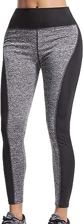 FITTOO Pantalones Deportivos Mujer Yoga Leggings de Alta Cintura Elásticos y Transpirables para Running Fitness