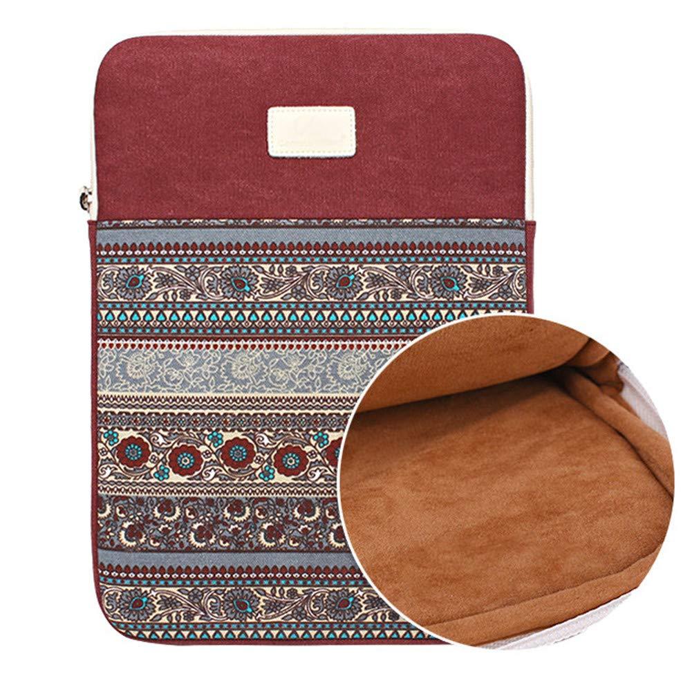Bohemian Canvas Sleeve Case Bag for 11 inch Notebook/Ultrabook/Chrombook,Lake Blue 1 GODGETS
