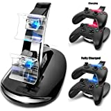 Koiiko® LED USB Dual Charger Controller Stand Charging Charge Dock Stand for Microsoft X-BOX ONE XBox1 Xbox one S TWIN Controller