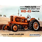 WD45 Tin Sign by Allis Chalmers 16 x 13in