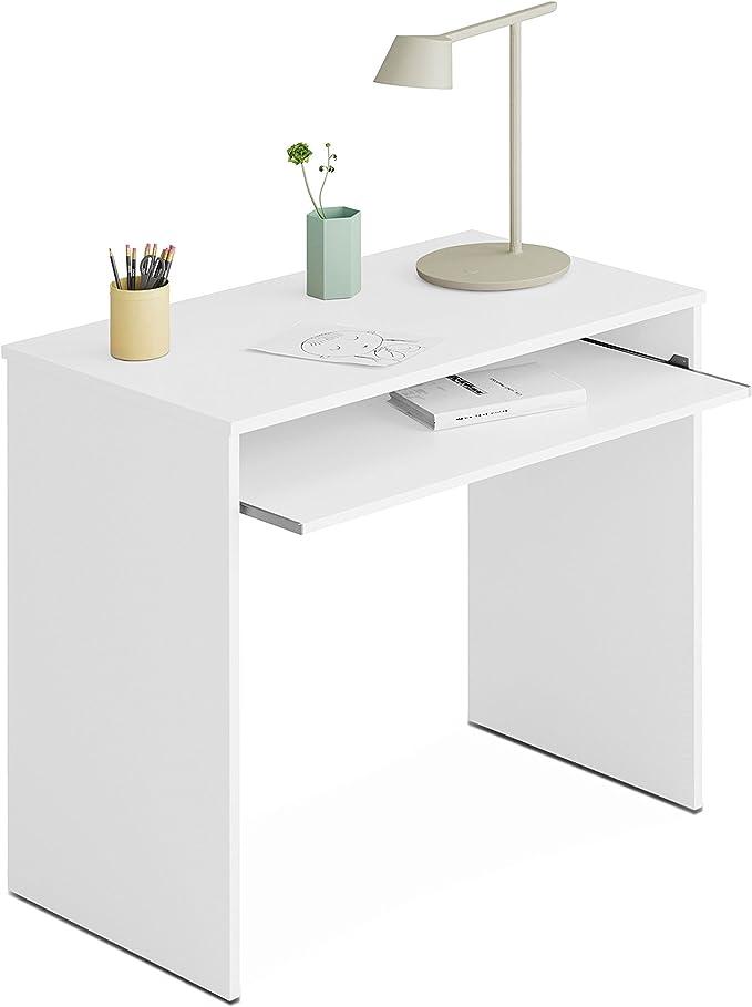 Habitdesign 002314BO - Mesa de ordenador, color blanco brillo ...