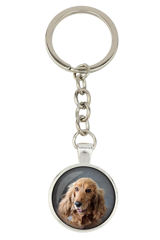 Dog Pendant for Dog Lovers English Cocker Spaniel Photo-Jewelry Box Handmade