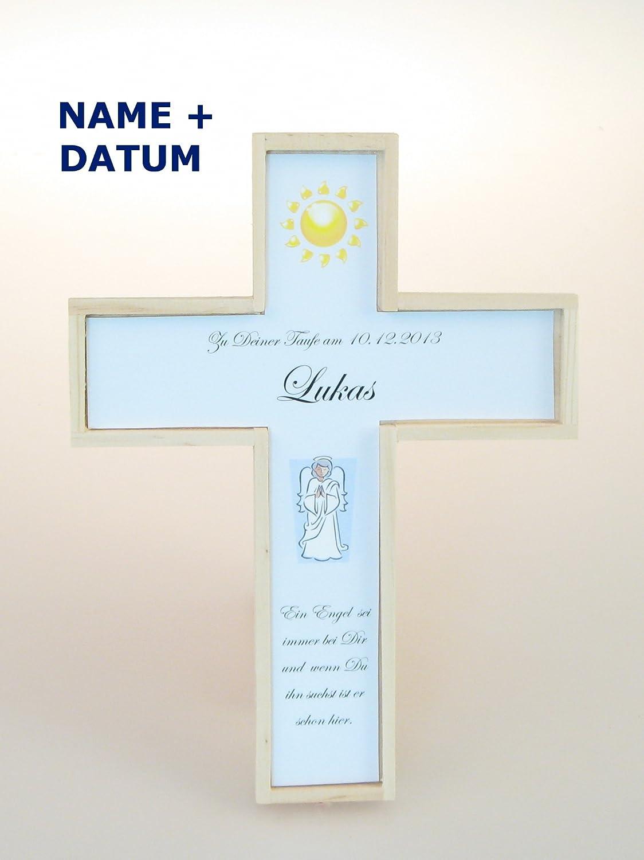 Taufkreuz MIT NAME, DATUM und Taufspruch, Kinderkreuz, Taufkreuz für  Jungen, Geschenk zur Taufe, Patengeschenk, Kinder-Kreuz, Geschenk zur Geburt