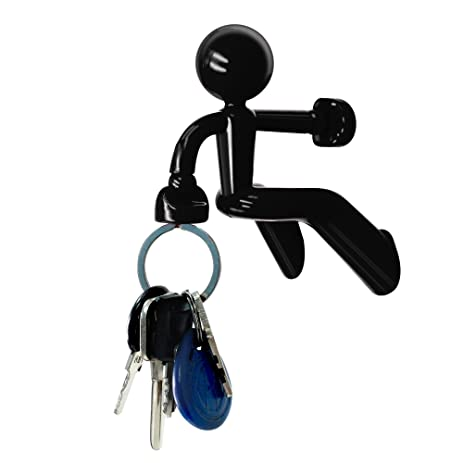 Decorative Key Pete Strong Magnetic Key Holder Hook Rack With Wall Climbing  Man Design For Home