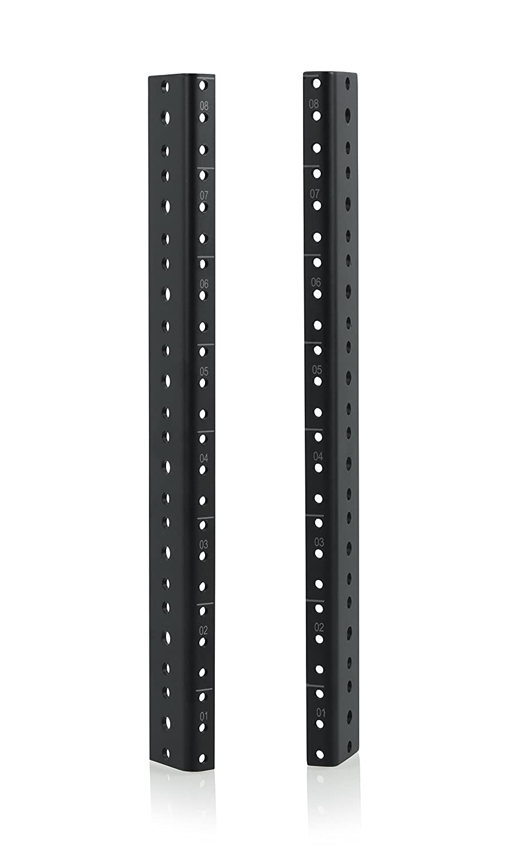 Gator Rackworks Heavy Duty Steel Rack Rail Set; 6U Rack Size (GRW-RACKRAIL-06U)