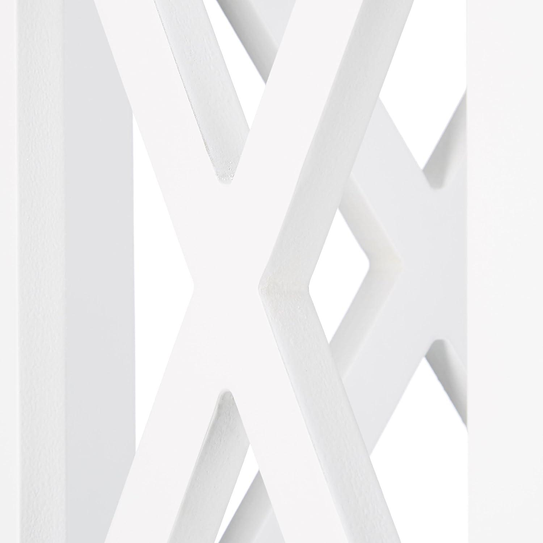 Stretto Armadio Multiuso per Bagno e Cucina per Nicchie Bianco Relaxdays 10020975 Mobile a Colonna Alto con 6 Mensole
