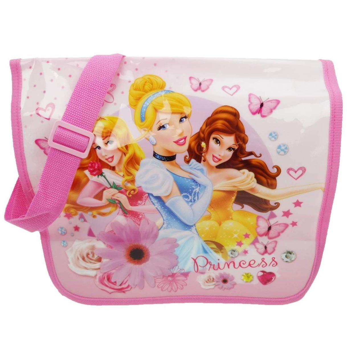 NEW Girls Satchel Disney Princesses Pink Shoulder Messenger Bag School Books