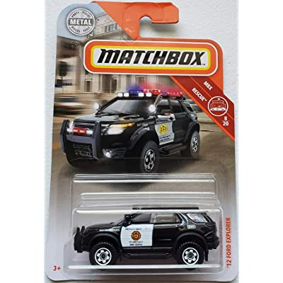 Matchbox mbx 12 Ford Explorer San Diego Police Rescue Series 1:64 Scale Collectible Die Cast Metal Toy Car Model 8/19: Toys & Games