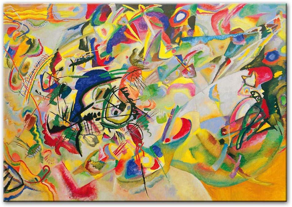 LTXMZ Wassily Kandinsky-Composition Abstract Wall Art Canvas Pintura Kandinsky Posters and Prints Abstract Art Wall Cuadros Room Decor 50x70cm No Frame