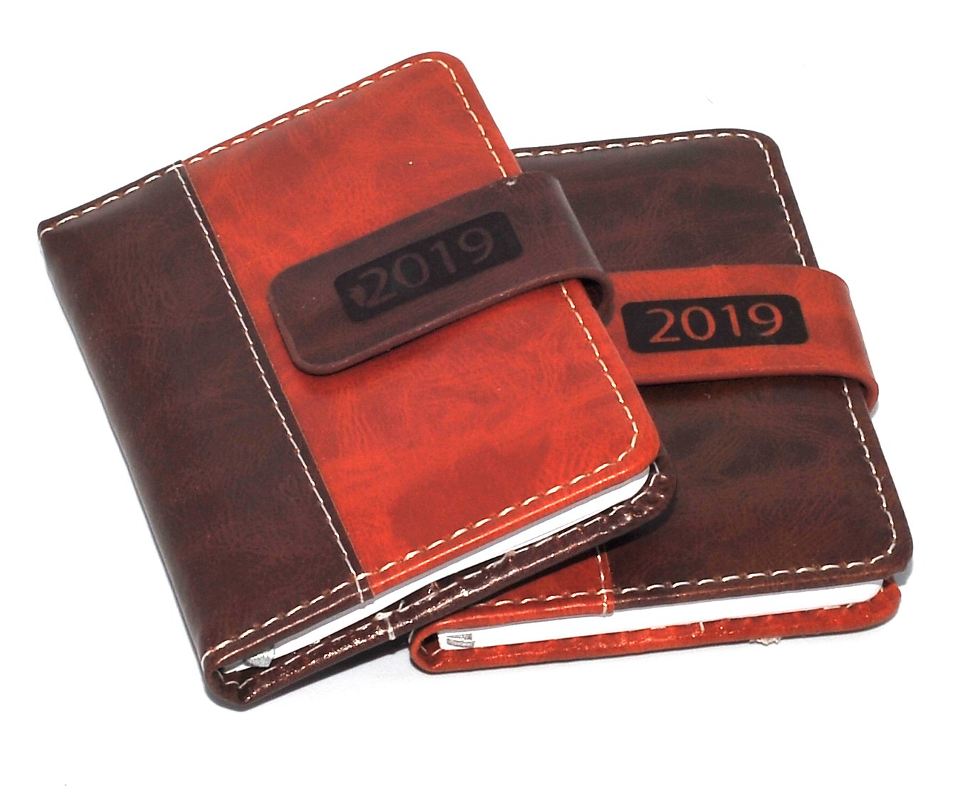 1x 2019 Pocket Diary, Week to View Leatherette Magnetic Clip icompact