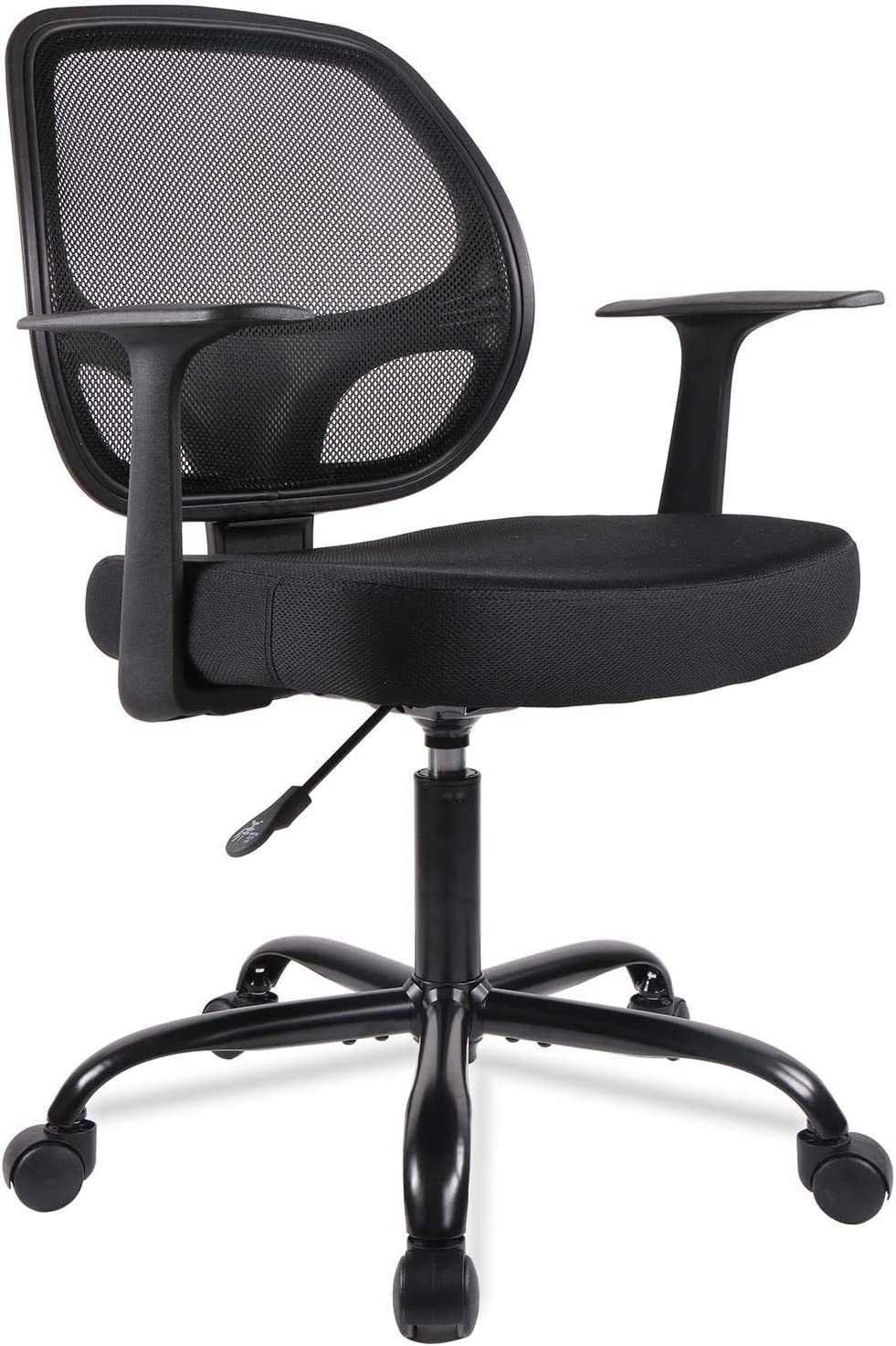 Home Office Chair Desk Chair Mid-Back Mesh Computer Chair with Lumbar  Support Swivel Rolling Chair